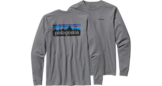 Patagonia M's P-6 Logo LS T-Shirt Gravel Heather
